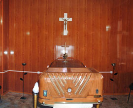 Panoramic view of one of the chapels